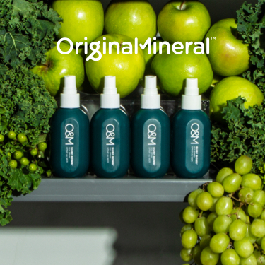 O&M Products with superfood in the background